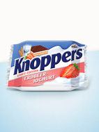 Knoppers 2015: The ideal in-between snack for the summer: Knoppers Strawberry Yoghurt